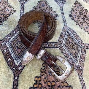 Vintage leather belt size 38